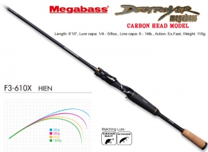 MEGABASS DESTROYER CARBON HEAD MODEL F3-610X
