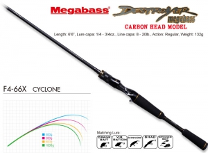 MEGABASS DESTROYER CARBON HEAD MODEL F4-66X