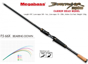 MEGABASS DESTROYER CARBON HEAD MODEL F5-66X