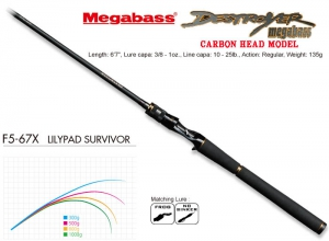 MEGABASS DESTROYER CARBON HEAD MODEL F5-67X