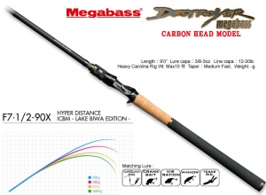 MEGABASS DESTROYER CARBON HEAD MODEL F7.1/2-90X