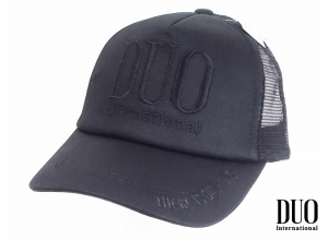 DUO LOGO MESH CAP (EMBROIDERY) BLACK
