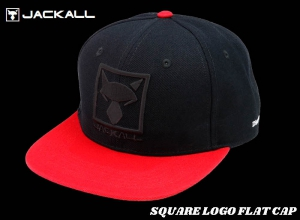 Christmas Sale JACKALL SQUARE LOGO FLAT CAP / Black-Red