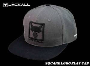 Christmas Sale JACKALL SQUARE LOGO FLAT CAP / Charcoal-Black