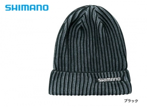 Shimano Rib knit watch cap CA-084S / Black (2019 Sep debut)
