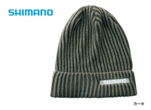 Shimano Rib knit watch cap CA-084S / Khaki (2019 Sep debut)