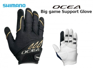 SHIMANO OCEA Big Game Support Glove Black-L