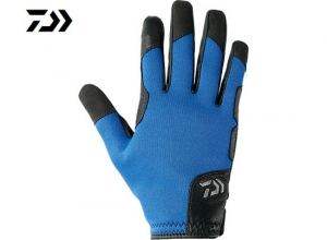DAIWA DG-7207W Cold weather JIGGING Glove  Size-L Blue