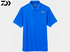 Xmas Sale DAIWA DE-6607 BE EARTH FRIENDLY POLO SHIRT D-Blue-XL