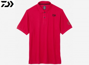 Xmas Sale DAIWA DE-6607 BE EARTH FRIENDLY POLO SHIRT Rose-Red-X