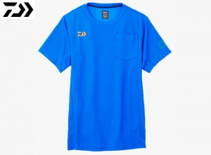 Xmas Sale DAIWA DE-8607 BE EARTH FRIENDLY T-SHIRT Dazzling-Blue-XL
