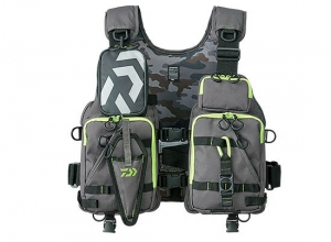 DAIWA DF-6206 Float Game Vest / Gray-Lime