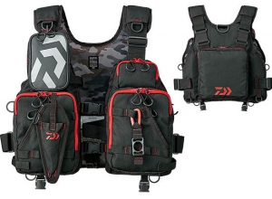 DAIWA DF-6206 Float Game Vest / Black/Red