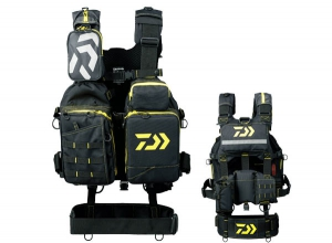 DAIWA Bench Cool Game Vest III DF-6107 Black-Yellow
