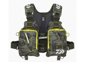 DAIWA LIGHT FLOAT GAME VEST DF-6406 G-Camouflage