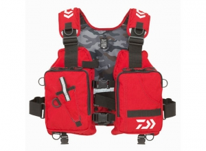 Xmas Sale DAIWA LIGHT FLOAT GAME VEST DF-6406 Red