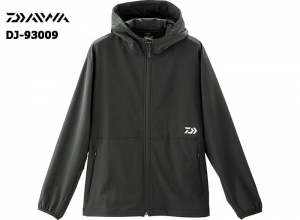 DAIWA DJ-93009 STRETCH FULL ZIP HOODY BLACK-2XL(October Debut)