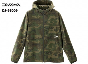 DAIWA DJ-93009 STRETCH FULL ZIP HOODY GREEN-CAMOUFLAGE-2XL(October Debut)