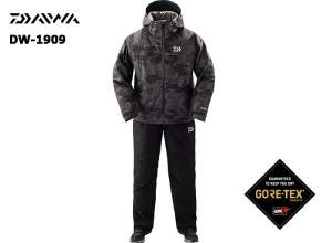 DAIWA DW-1909 Gore-Tex Product Winter Suit BLACK-CAMO-2XL(October Debut)