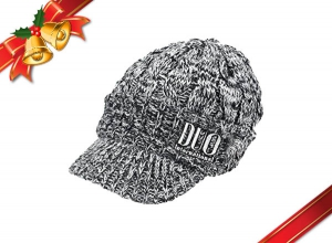 Xmas Sale DUO Knit Cap Type-Brim Black-White