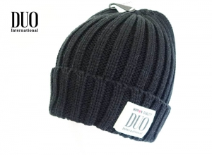 Xmas Sale DUO Knit Cap Black