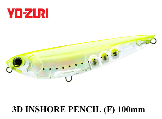 3D INSHORE PENCIL 100mm GHCS