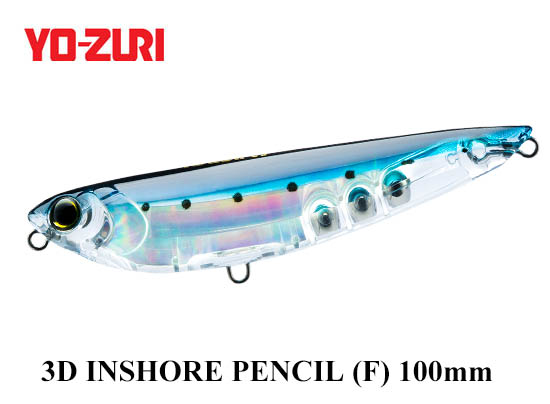 3D INSHORE PENCIL 100mm GHIW