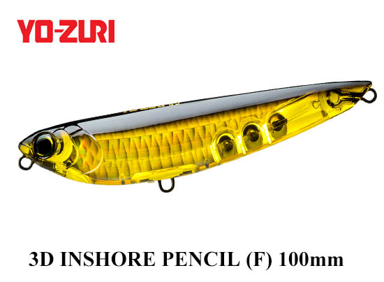 3D INSHORE PENCIL 100mm HGBL