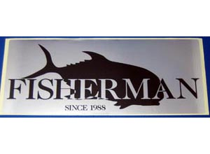 FISHERMAN Sticker-F (Silver-Black)