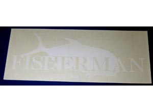 FISHERMAN Sticker-D (Clear-White)