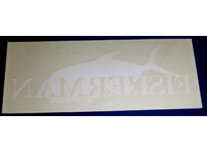 FISHERMAN Sticker-A(Reverse character:Clear-White)