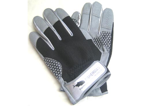 FISHERMAN High Grip Glove Color-Black 3L