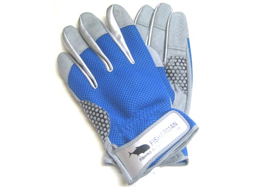 FISHERMAN High Grip Glove Color-Blue M
