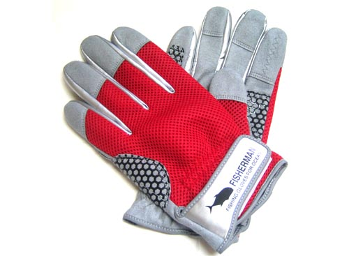 FISHERMAN High Grip Glove Color-Red L